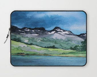 Scenic Macbook Pro Laptop Case - Artistic Printed Fabric Laptop Sleeve - Landscape Painting