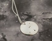 Silver Orion pendant: The constellation of Orion on a sterling silver pendant