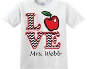 LOVE apple teacher shirt