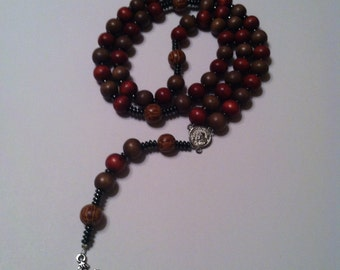 Men's wooden bead rosary