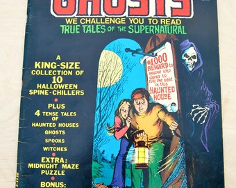 1974-1975 super size limited edition Ghosts comic book. DC Vol 3 C-32, bronze age, complate.