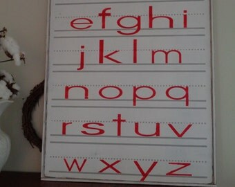 Alphabet Sign inspired by Fixer Upper