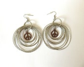Large Statement Hoop Peace Sign Earrings - festival fashion, statement earrings, peace sign jewelry, hippie jewelry