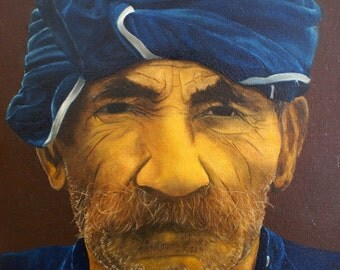 Portrait of a Greek man - Original Oil Painting