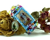 Guardian Angel scapular sequined embroidered bracelet