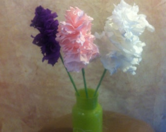 Crepe Paper Hyacinths - Many Colors - Paper Flowers - Paper Flowers for Bouquets