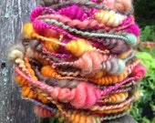 Handspun Art Yarn - Zinnias