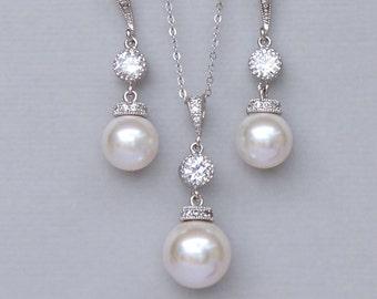 Ivory Pearl Bridal Jewelry Set, Pearl Jewelry Set, Pearl Bridesmaids Jewelry Set, Wedding Jewelry Set, SISSY