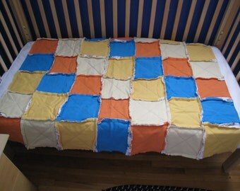 Denim and Flannel Rag Quilt-Crib Size
