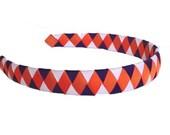 Clemson Tigers Headband - Purple Orange and White Woven Headband - Fighting Tigers - American Girl Doll Clemson Headband