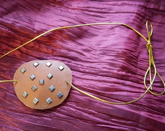 Studded steampunk eyepatch