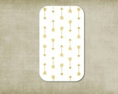 Crib sheet, gold metalic arrows  crib sheet, sheet fitted, crib sheet gold