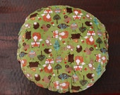 boppy lounger cover, Minky fox with rust minky dot on the back- Ships Today