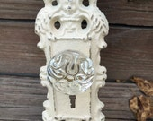 Wall Hook, Wall Hanger, Shabby Chic Off White Hook