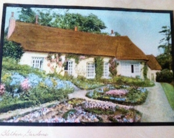 Rare vintage Wallace Nutting print Blethens Gardens
