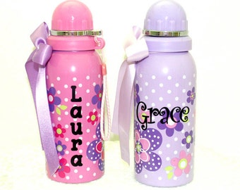 GIRL'S WATER Bottle ~ Ready for You to Personalize!