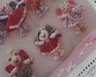 Pattern - Bears and Kittens mini dolls, garlands, necklace, decorations