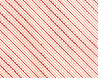 Hello Darling - Summer Stripe in Coral Red by Bonnie & Camille for Moda Fabrics - Last Yard