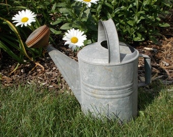 Vintage Metal Galvanized Watering Can