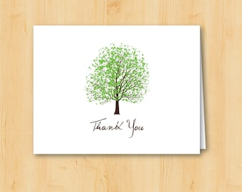 Courtship Tree Spring Thank You Card - Printable - INSTANT DOWNLOAD