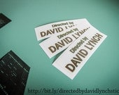DIRECTED by DAVID LYNCH stickers (Twin Peaks style)