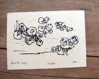 Barnacle Envy - Original Art - Hand Pressed Block Print Art Print