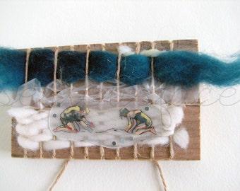 Construction 1 - Small Mixed Media Weaving Art