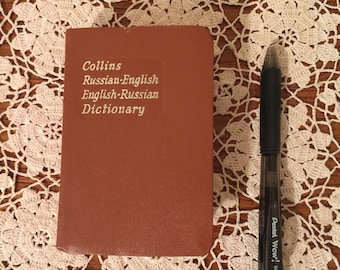 Vintage Collins English to Russian Pocket Dictionary