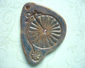 Old Fashioned Bicycle Ceramic Pendant