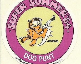 Vintage 80's Garfield 'Dog Punt' 1984 Super Summer Olympics Sticker