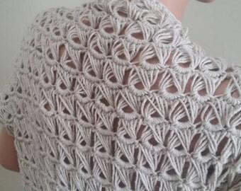 Unique crochet shrug