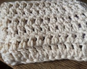 Solid White Crocheted Soap Saver Pouch