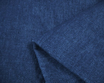 Dark navy blue denim fabric 48 by 38