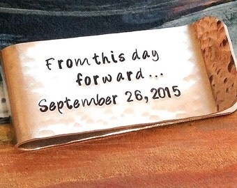 From This Day Forward Money Clip - Personalized Money Clip - Hand Stamped Money Clip - Custom Money Clip - Groomsmen Gift - Mens Gift