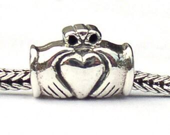 Irish Claddagh Landmark Bead Sterling Silver LM004
