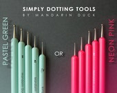 DOTTING TOOLS by Mandarin Duck (polymer clay, ball tool, sculpting, nail art).
