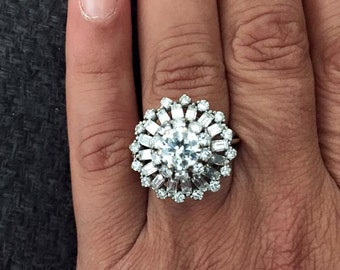 Very special and One of  a kind Diamond Ring 1 carte family inheritance 1940