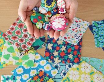 Cotton Fabric Cloth -DIY Cloth Art Manual Cloth - Small Squares 58 x19 Inches
