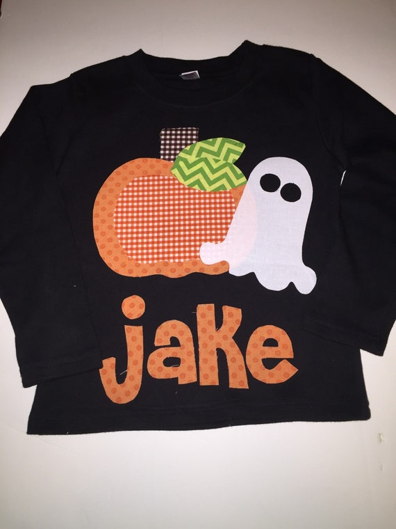 Pumpkin Ghost Shirt Personalized- You Choose Shirt Color and Sleeve Length