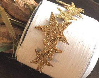 Infant & toddler sparkle star crown skinnyheadband, hair clip, in gold, black, silver or custom. Pure german glass glitter!