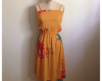 Vintage orange sleeveless dress