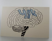 Card - Thinking of You - Blank - Monkey Brains - monkeybrains - monkeybrainsdesign