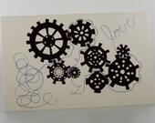 Card - Love & Gears - Blank Inside - Monkey Brains - monkeybrains - monkeybrainsdesign