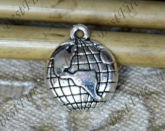 12 pcs of Antique Silver charming the earth pendant,metal finding 16x20mm, findings beads, pendant beads findings