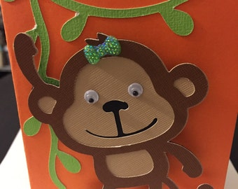 Hang in There! Monkey Card