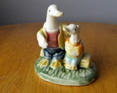 Duck Ornament with Duckling
