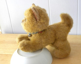 Vintage Toy Cat - Real Soft Toys - Ginger Kitten - 9 inch Toy Kitten - 1970's Toy