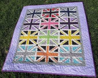 Union Jack Lap, Baby Or Toddler Quilt
