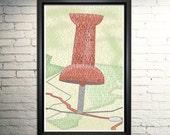 Paper Towns art print, John Green poster