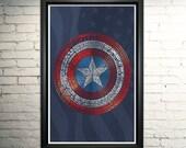 Captain America Art- Avengers  Captain America Poster